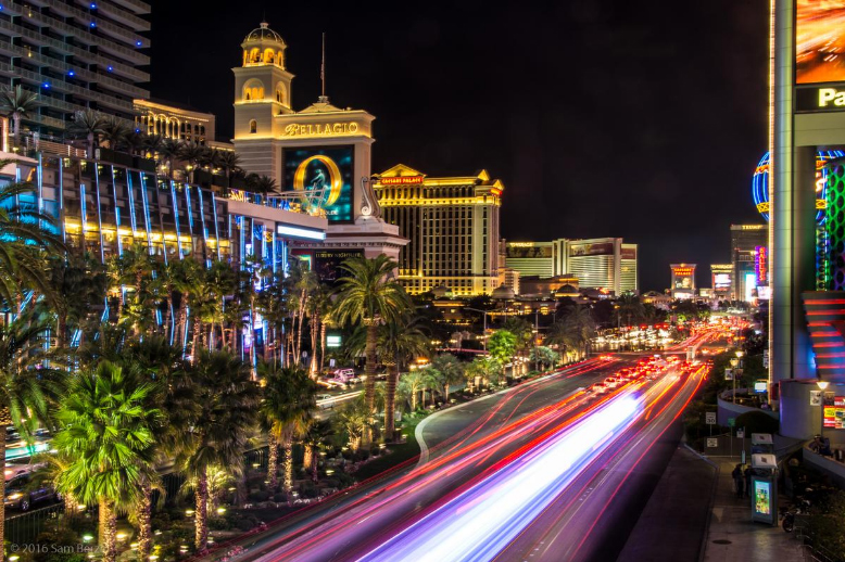 Place yourself on a strategic location where you can capture light trails in multiple colors